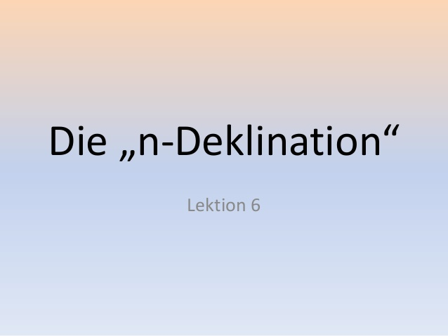 n denklination